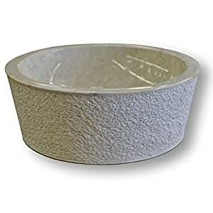 Ocean Line KIN-SDB-008-A Drip Vasque à Poser Marbre Crème 40 x 40 x 15 cm