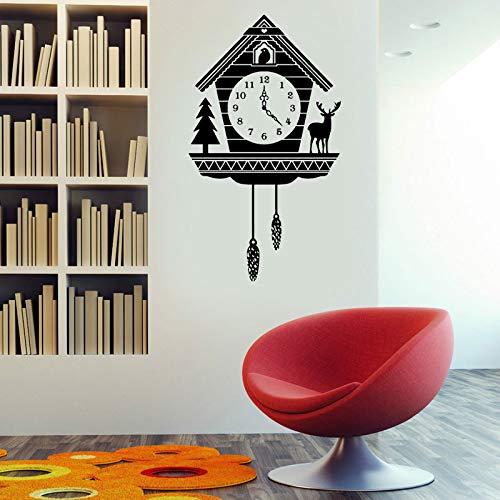Rustikale Kuckucksuhr Wandtattoo - benutzerdefinierte Vinyl-Kunst-Aufkleber für Innenräume Häuser Wohnzimmer Apartments und Schlafzimmer 42 x 24 cm -