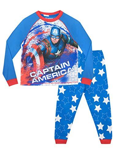 Marvel Jungen Schlafanzug Captain America Mehrfarbig 116