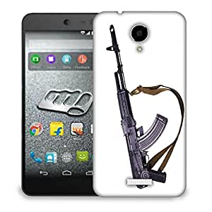Snoogg Big Gun Designer Protective Back Case Cover For MICROMAX Q416