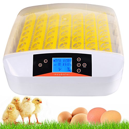 Sailnovo Incubadoras Automática Total de 56 Huevos, Incubadora Criadora Inteligente Digital con Pantalla LED de Temperatura y Sensor de Temperatura Precisa
