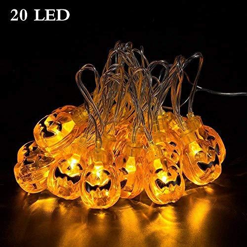 Axuan halloween pumpkin string lights, 20leds 3d lanterna luci con telecomando, 2modalità di funzionamento a batteria con luci natalizia. per esterni halloween decorativo wedding, patio, giardino