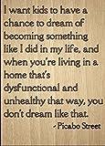 Norma Lily I Want Kinder zu Haben A Chance to Dream von. inspirierenden Zitat SIgnt, Laser Gedruckt auf Holzschild–Größe: 25,4x 45,7cm.