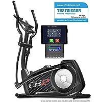 Sportstech CX2 Crosstrainer mit Smartphone App & integriertem Stromgenerator - Pulsgurt kompatibler Ellipsentrainer inkl. Bluetooth Konsole und Tablet-Halterung - Ergometer mit 27 Kg Schwungmasse