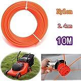 2.4mm x 10m hierba flexible de nylon cuerda de hilo de corte para 23-35cc
