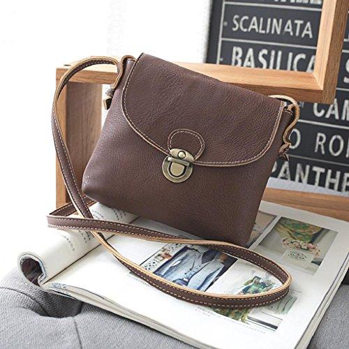 2017 Borse donna,Kangrunmy®Donne borsa di cuoio di signora Satchel Handbag Borsa a tracolla Tote Caffè
