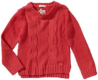 Pepe Jeans Pull-over Col ras du cou Manches longues Fille - Rose foncé - Pink (357 FUCHSIA) - FR : 6 ans (Taille fabricant : 116)