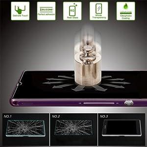 Ex-Schutz Gehärtetes Glas Displayschutzfolie für Sony Xperia Z Ultra / XL39h