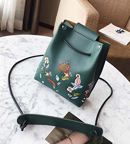 SMILEQ , Damen Rucksackhandtasche schwarz Grün