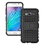 RKMOBILES Samsung Galaxy J5 SM-J500F Shock Absorption Hybrid Armor Protection Defender Back Cover Case- Black (For Samsung Galaxy J5 SM-J500F )