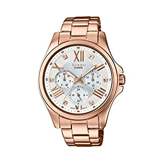 Casio Sheen Analog Mother of Pearl Dial Women's Watch – SHE-3806PG-7AUDR (SH192)