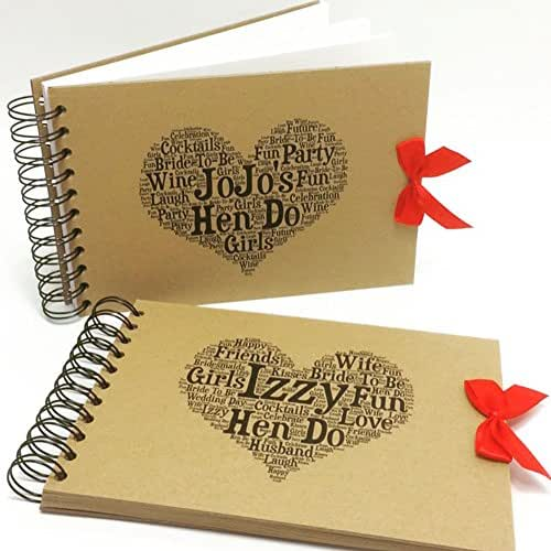 Personalised A5/A4/A3 Hen Do Scrapbook, Photo Album, Memory Book, Gift, Guestbook