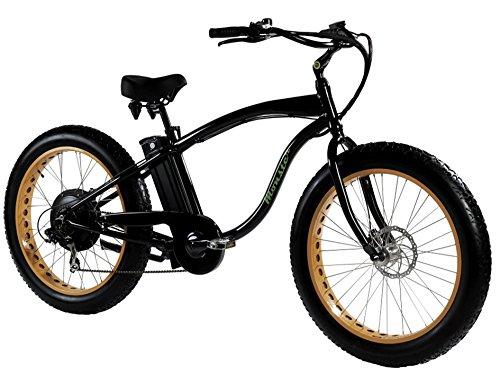 """Marnaula Monster 26 - Ist Das Fat Elektrobike - is The Electric Fat Bike - Rahmen: Alu Hydro TB 7005 - Räder: 26"""" - Shimano Alivio 6-SP - Shimano Alivio 14-28 Zähne - auf Schnee Oder Sand Rollen"""