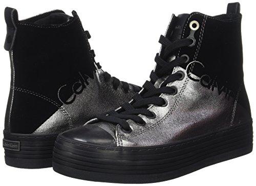 Calvin Donna Sneaker Zazah Klein Canvasflocking Metal nXfrXFAwq