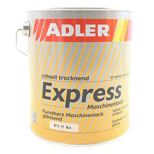ADLER Express-Maschinenlack R70 55 Rot 2,5l Kunstharzlack Spritzlack Lack