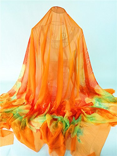 Grille de foulards New England S irréguliers Upper écharpe femmes, des serviettes écharpe écharpe Orange-red