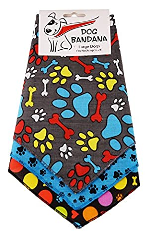 BANDANAS UNLIMITED Tie on Triangle Male Dog Bandanas for Large