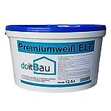 doitBau Innenfarbe Premium ELF 12,5L Weiß Deckenfarbe Wandfarbe Innenraumfarbe