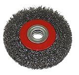 AERZETIX: Brosse circulaire en acier métal pour poncer diamètre 125mm convient meuleuse touret - C1228
