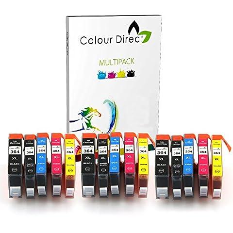 15 Colour Direct Compatible Cartouche D'encres Pour HP 364XL - HP Deskjet 3070A, 3520, Officejet 4610, 4620, 4622, Photosmart 5510, 5510, 5512, 5514, 5515, 5520, 5522, 5524, 5525, 6510, 6520, 6525, 7510, 7520, B010a, B109a, B109c, B109d, B110a, B110c, B110d, B110e, B110f, B8550, B8553, C5380, C5383, C5390, C6300, C6380, CN245b, D5460, D5463, D7560, C510, B209, B209a, B210, B210a, B210b, B210c, B210e, C309, C309h, C309n, C310, C310a, C309a, C309c, C410b imprimeur