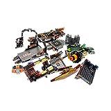 Bausteine gebraucht 1 x Lego System Set Modell für Ninjago 70605 Misfortune's Keep Luftschiff des Unglücks braun grau Incomplete unvollständig