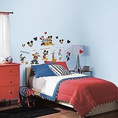 Idea Regalo - RoomMates Mickey & Friends - Adesivo riutilizzabile da parete