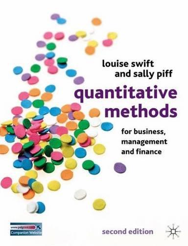 Quantitative Methods for Business, Management and Finance por Louise Swift