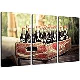 viejas botellas de Coca Cola pintura sobre lienzo, (Total Tamaño: 120x80 cm) enormes imágenes completamente enmarcadas con camilla, la lámina en cuadro de la pared con marco