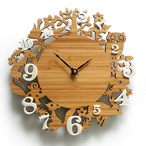 Orologio da parete originale in legno da camera da uomo con uccelli, orologio da parete,legno originale,s