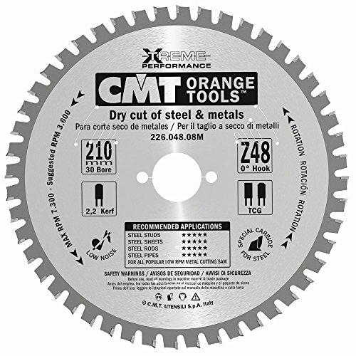 CMT ORANGE TOOLS 226 048 08M - SIERRA CIRCULAR PARA METALES 210X2 2X30 Z 48 FWF 8 GRADOS