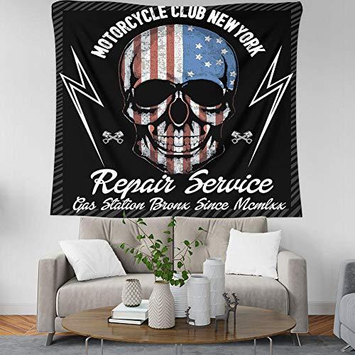 Arazzo da parete,creative bandiera americana cranio lettere stile indiano di grandi dimensioni del tessuto di stampa bohemian mandala psichedelico picnic gotico foglio per il dormitorio aula paret