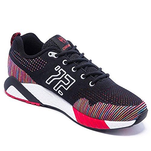 ONEMIX Atletica Degli Uomini Scarpe Da Corsa Delle Donne Sneakers Di Jogging Unisex Nero Rosso
