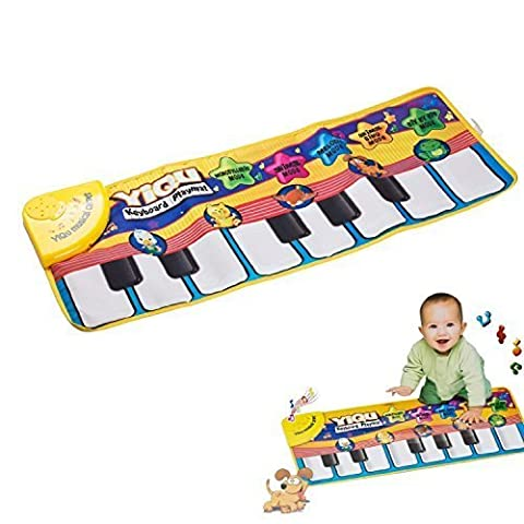 colormixs® Baby Toys Klavier Matte Musical Touch Keyboard Gesang Teppich Matte Funny Animal Piano Decke (Strumenti musicali)