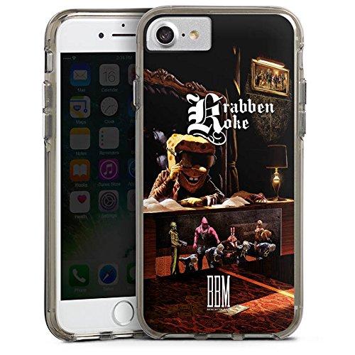 Apple iPhone 6 Bumper Hülle Bumper Case Glitzer Hülle Spongebozz Krabbenkoke Fanartikel Merchandise Bumper Case transparent grau