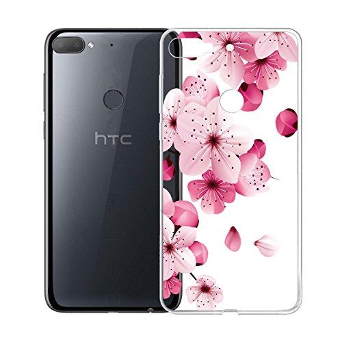 LJSM Hülle für HTC Desire 12 Plus Handytasche Weiche TPU Silicone Schutz Handyhülle Silikon transparent Schutzhülle Tasche Cover Schale Case für HTC Desire 12 Plus (6.0