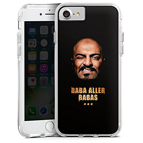 Apple iPhone 8 Bumper Hülle Bumper Case Glitzer Hülle Xatar Fanartikel Merchandise Fan Article Merchandise Bumper Case transparent
