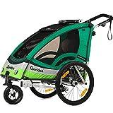 Qeridoo Sportrex 1 Fahrradanhänger 2017 - 1 Kind, Farbvariante:grün