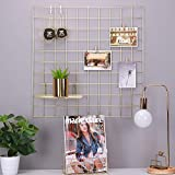 Rumcent Metall Mesh Wall Grid Panel, Metall Dekor Regale, Raumdekoration, Foto / Kunst-Display Veranstalter-Gold, Metall, 23.6