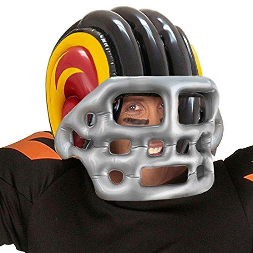 Sporthelm aufblasbar Footballhelm Sport Kopfschutz Footballer Helmet Kostüm Accessoire Sportler Aufblasbarer American Football ()