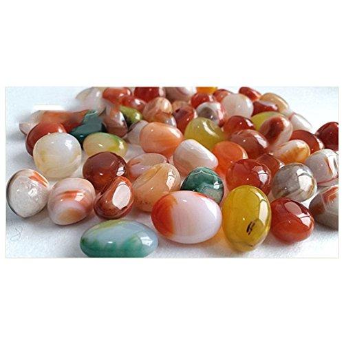 NACOLA 500g, Farbe gemischt mit Pebbles Steine Deko-Kies, kleine Tiere Für Fluss, Fisch, für Süßwasser-Aquarien Gartenbau-Dekoration, 0.5-1cm (Kies Süßwasser)
