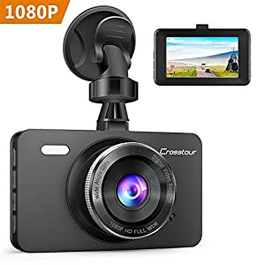 crosstour dash cam in car camera 1080p full hd 12mp 3. Black Bedroom Furniture Sets. Home Design Ideas