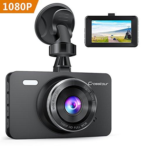 Crosstour AutoKamera 1080P Full HD, Dash Cam 12MP 3 'LCD Bildschirm mit 170 ° Weitwinkel, WDR,...