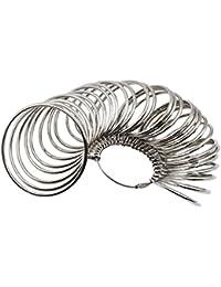 Niupika - Pulsera de metal para joyas, tamaño profesional, tamaño de la herramienta, pulseras de muñeca, medidor de tallas de la muñeca, tallas de la 1 a la 27