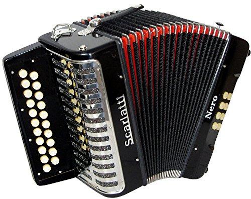 Scarlatti Nero G/C Melodeon/Akkordeon