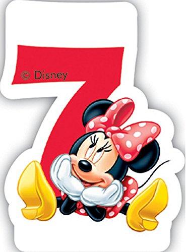 Zahlenkerze 7 * MINNIE MAUS * für Kindergeburtstag // Kinder Geburtstag Party Numeral Birthday Candle Kuchen Deko Motto Disney Mickey Mouse sieben Jahre (Mickey-mouse-geburtstags-zahlen)