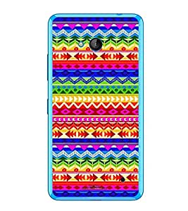 PrintVisa Designer Back Case Cover for Microsoft Lumia 640 LTE (Texture Pattern Design Fabric Colourfull)