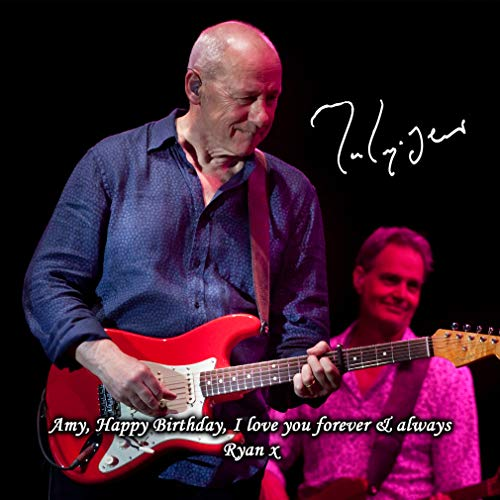 Mark Knopfler - Dire Straits 2 Personalised Gift Print Mouse Mat Autograph Computer Rest Mouse Mat Compatible with Laser and Optical Mice (No Personalised Message)