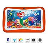 Qimaoo 7 Zoll Kinder Tablet Android, Tablet Kids Bilige Tablet PC 1G RAM+8G ROM Android 5.1 Quad Core 1.2 GHz mit Silikonhülle Orange
