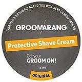 groomarang Schutz Rasiercreme für Männer–Eine Luxuriös, gründliche Rasur, die Haut fühlt sich weich, glatt & erfrischt–100% Natural Face Haut Care Organic & Vegan