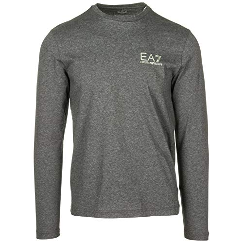 e598484f47c0 Emporio Armani EA7 Men s Long Sleeve t-Shirt Crew Neckline Grey UK Size M (